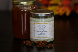 Spiced Honey & Amber - Honey | Bergamot | Tonka - 8 oz. Soy Wax Candle