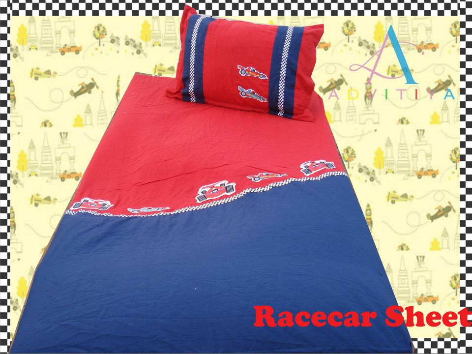 Race Car- Single Bed Sheet