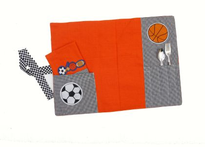 Fun with sports - Table mat and napkin