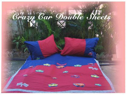 Crazy car - Double Bed Sheet