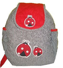 Lady Bug -  Quilted School bag