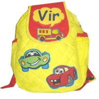Crazy car -  Quilted School bag