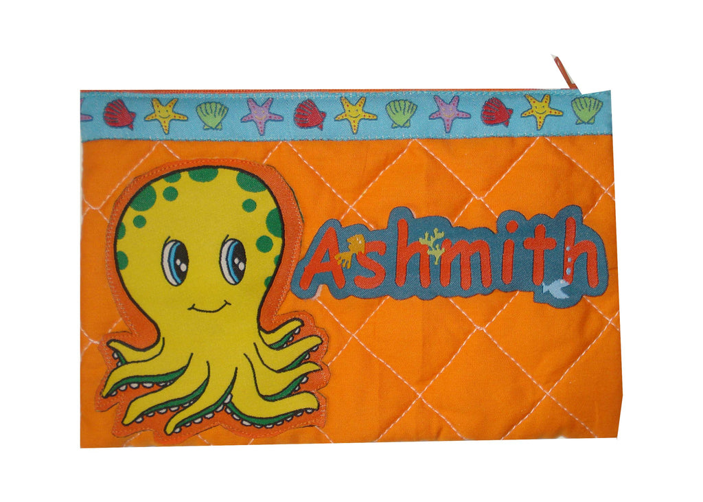 Octopus - quilted pencil pouch