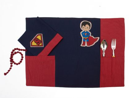 Super hero - Table mat and napkin