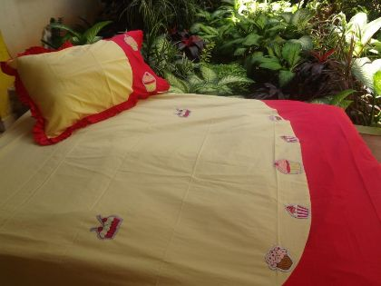 Cupcake - Double Bed Sheet