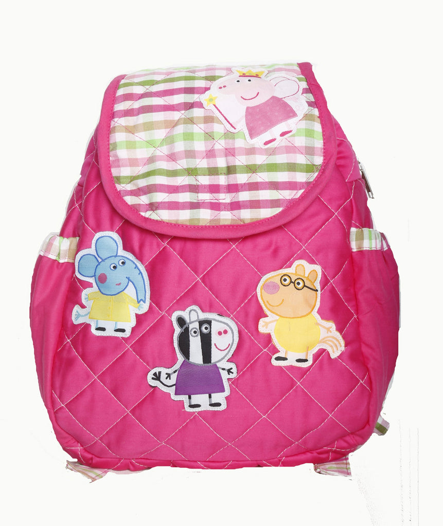 Piggy and friends - quilted school bag
