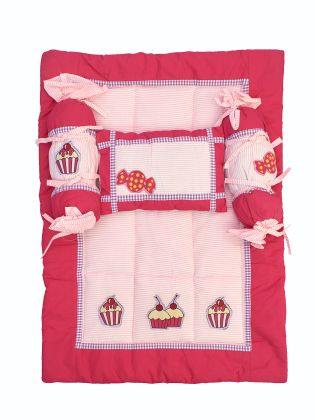 cupcakes and lollies - Baby bed set