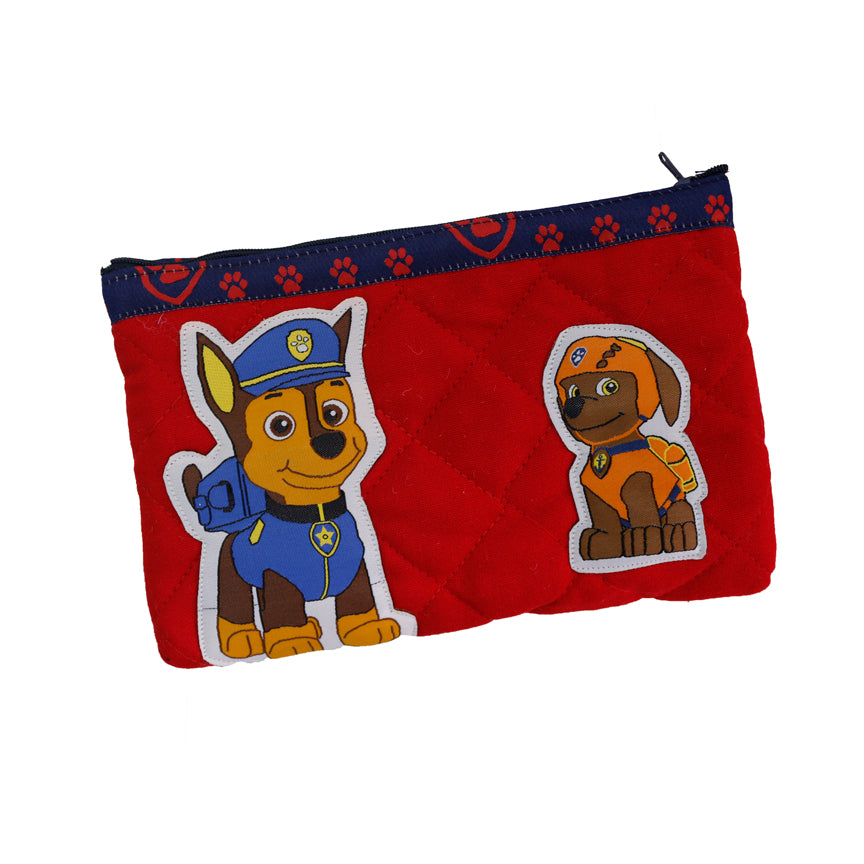 Chase and Zuma - quilted pencil pouch