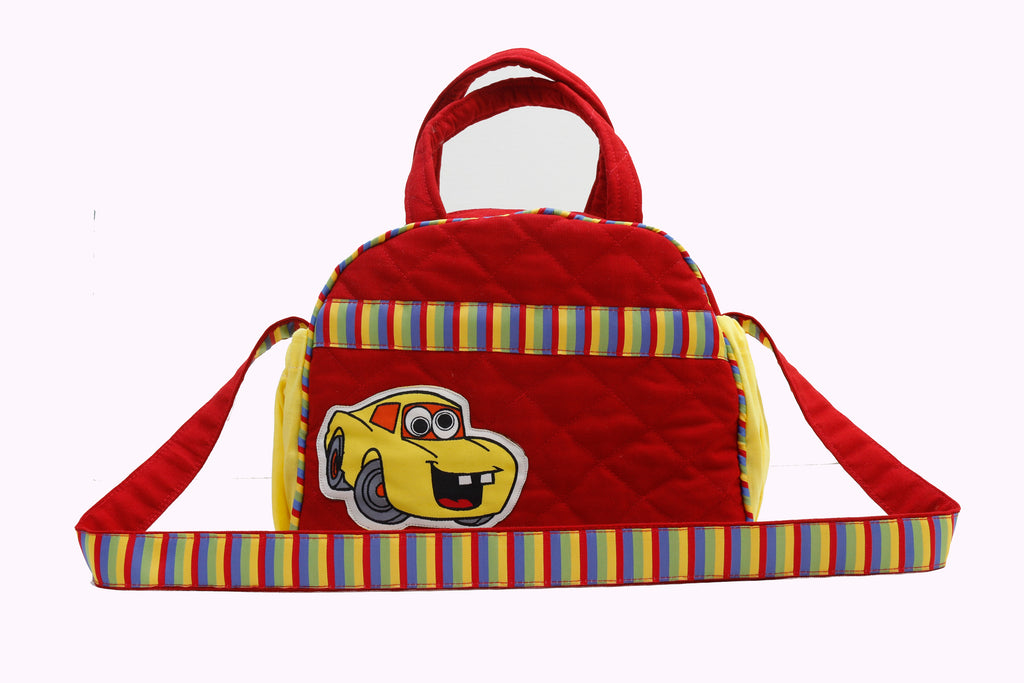 Crazy cars - Lunch Bag with sling