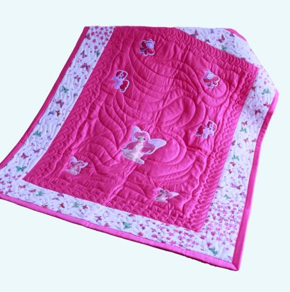 Fairy and pony - Baby Quilt
