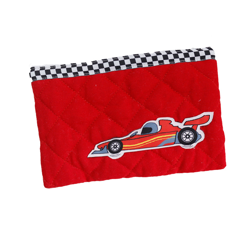Little racer - quilted pencil pouch