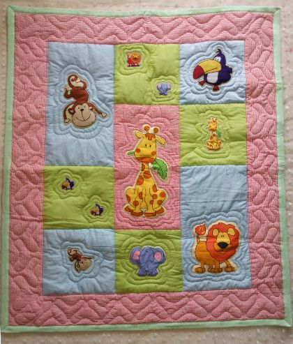 Friendly Animals - Baby Quilt