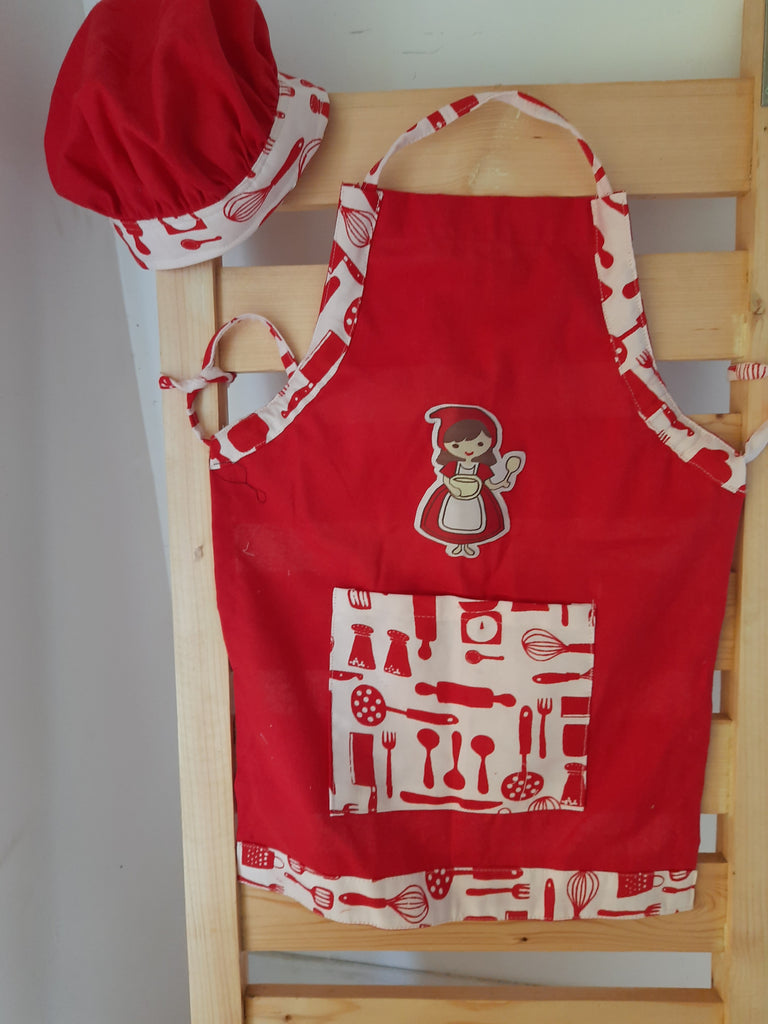 Red riding hood  Apron and Chef cap