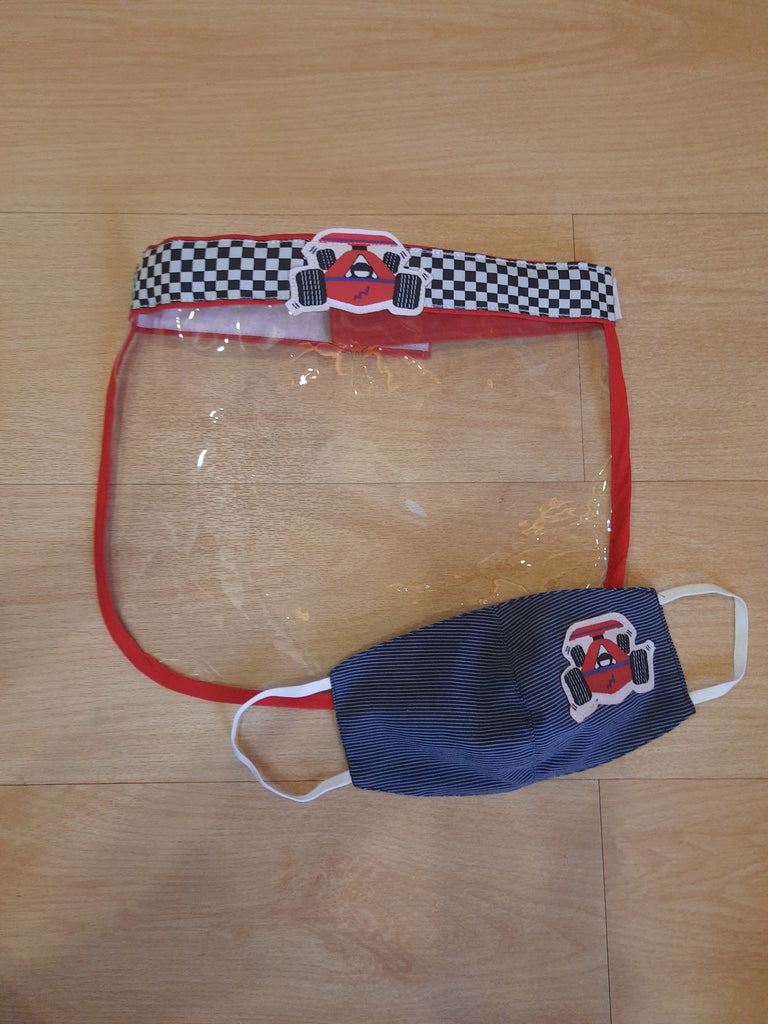 Little racer- Face Shield and mask