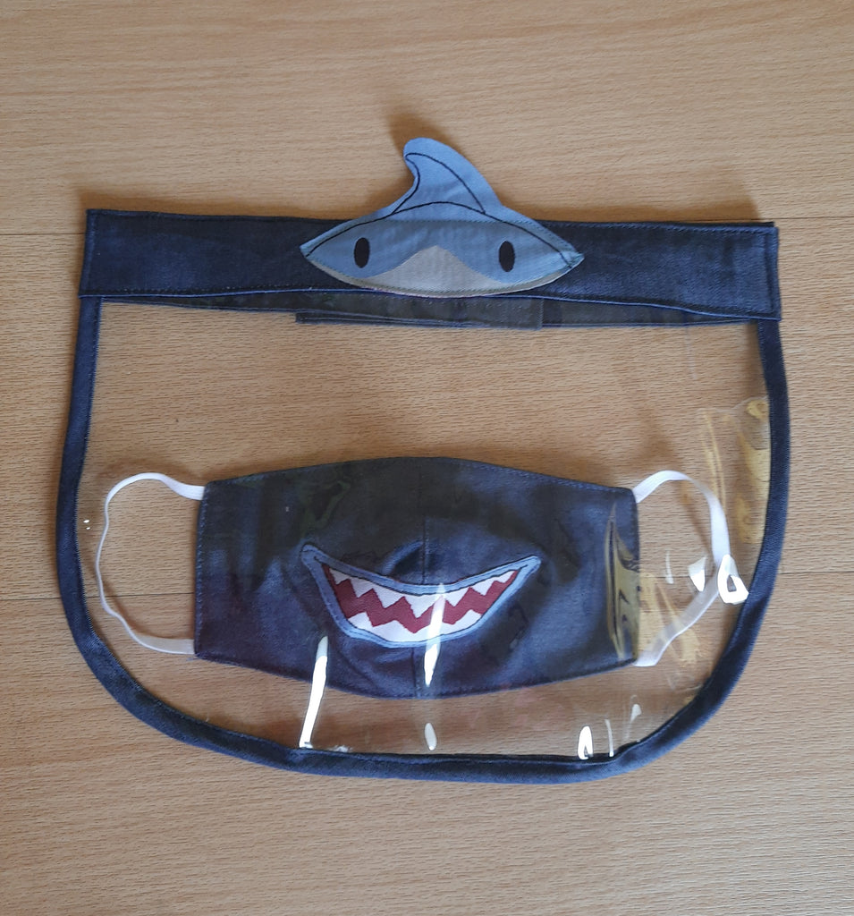 Shark- Face Shield and mask