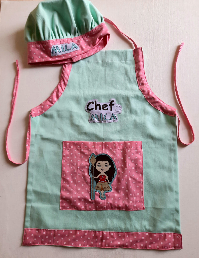 Moana - Apron and chef cap