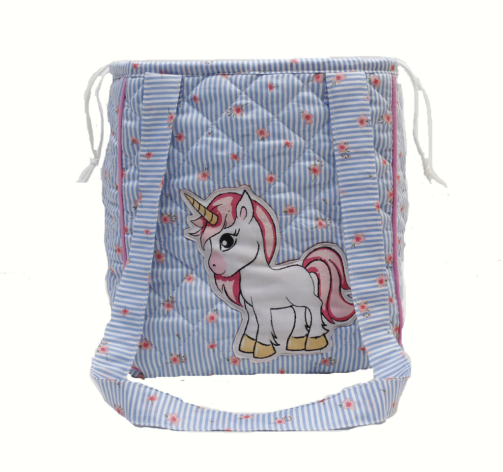 Pink pony drawstring lunch bag