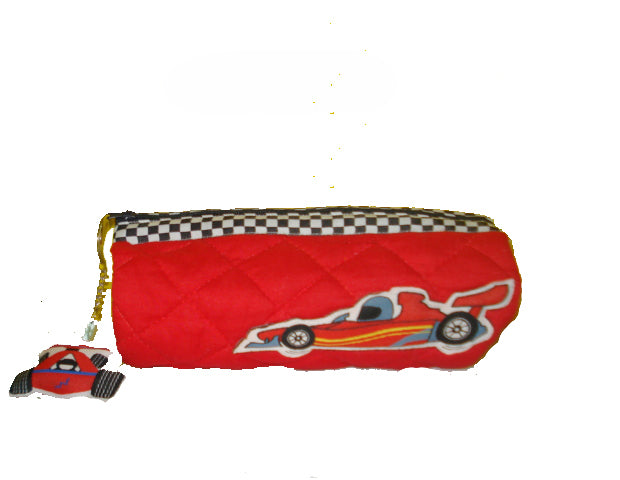 Race Car  - Cylindricil pencil pouch