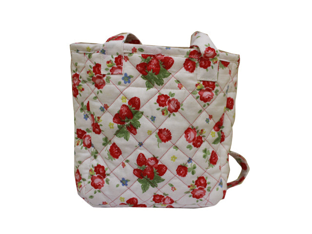 Strawberry drawstring lunch bag