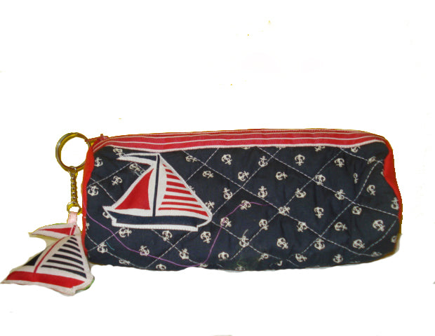 Sailboat - Cylindrical pencil pouch