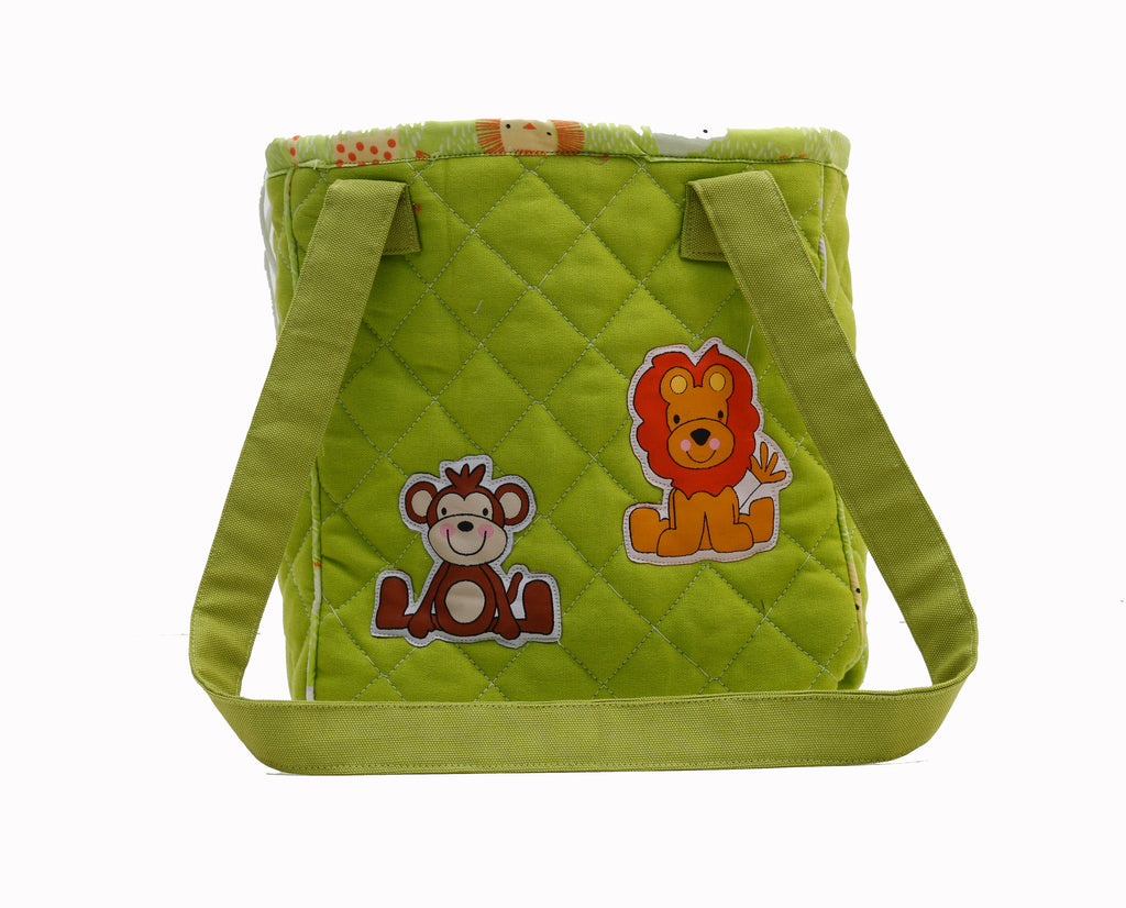 Jungle safari drawstring lunch bag