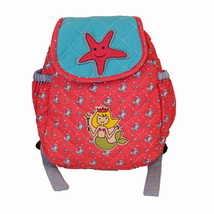 Mermaid and starfish - Junior School Bag