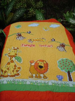 Jungle safari - Baby Quilt
