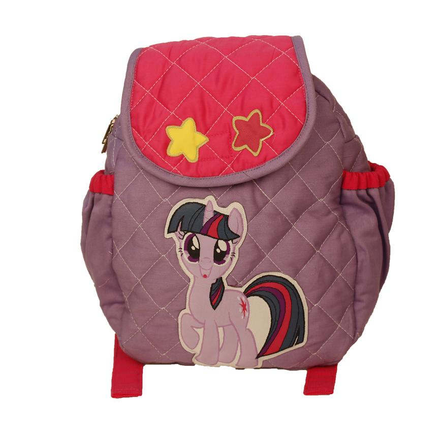 Purble pony - quilted school bag