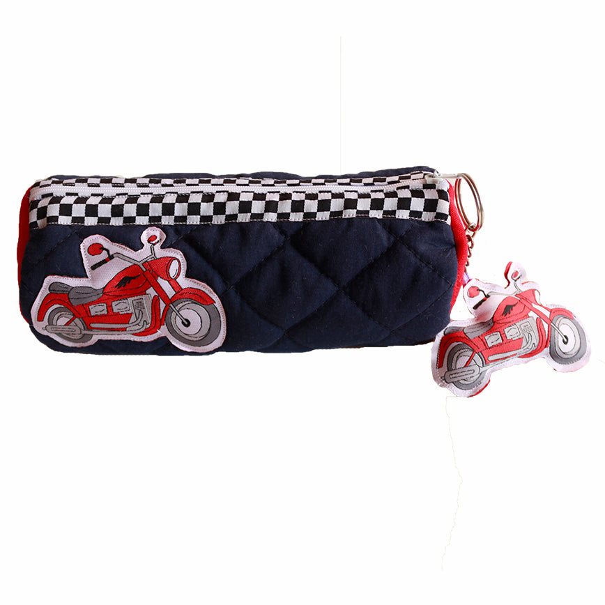 Harely bike- Cylindrical pencil pouch