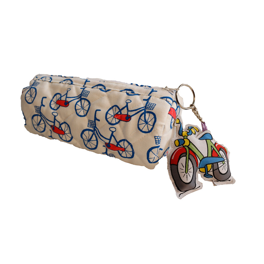 Lets go Cycling - Cylindrical pencil pouch