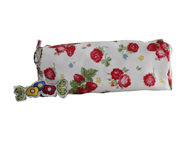Little red roses - square pencil pouch