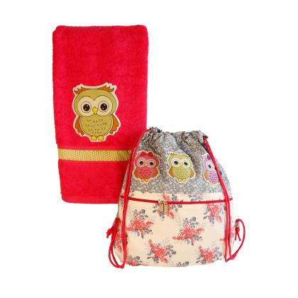 Owl - Swim bag and towel