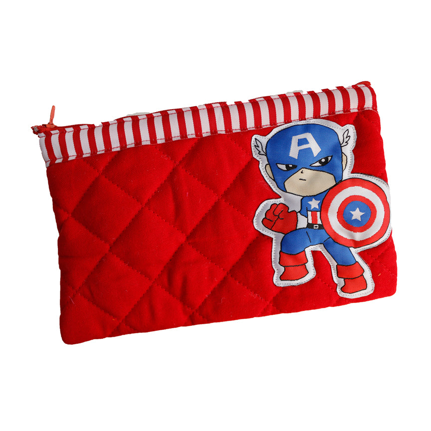 Captain America - quilted pencil pouch