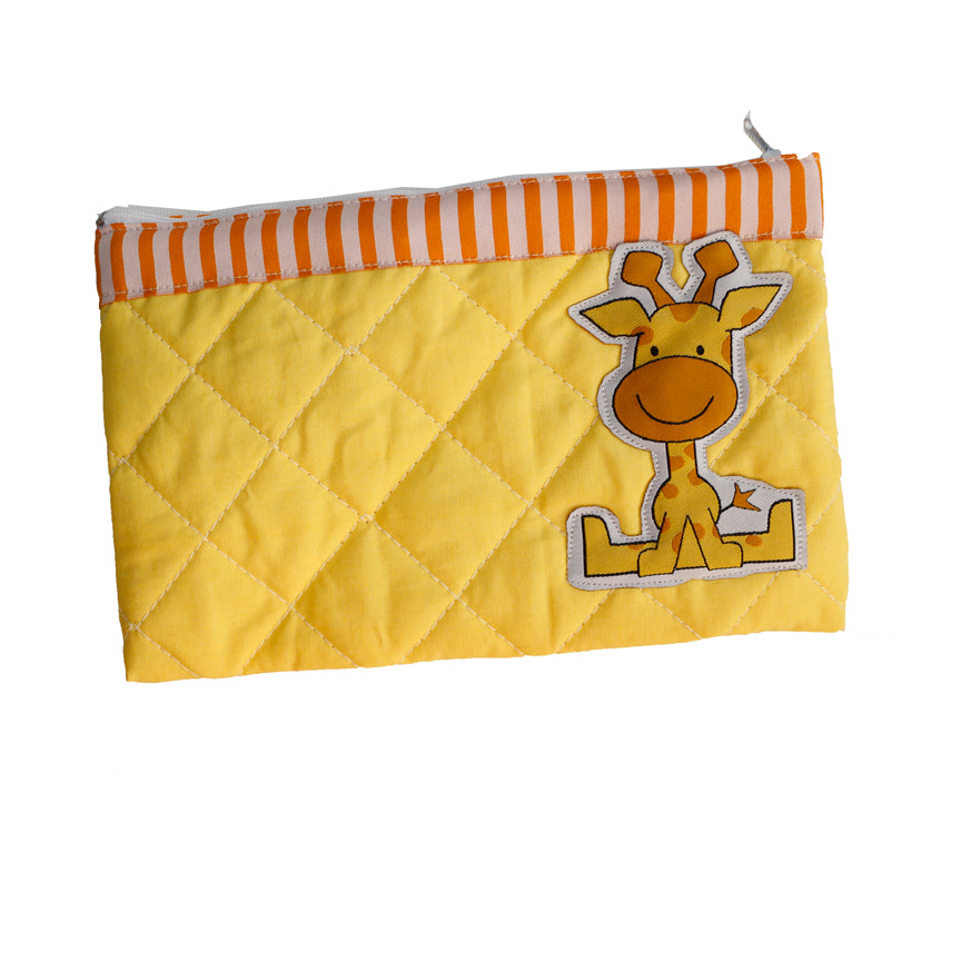 Gerry the Giraffe - quilted pencil pouch