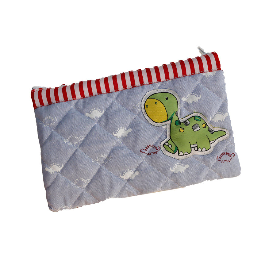 Dina the Dino - quilted pencil pouch
