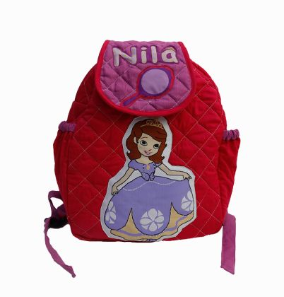 Princess Sofia -  Quilted School bag