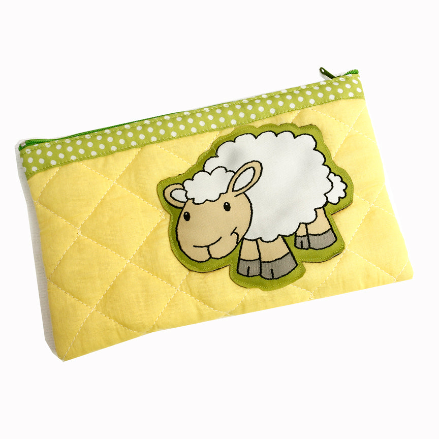 Farm - quilted pencil pouch