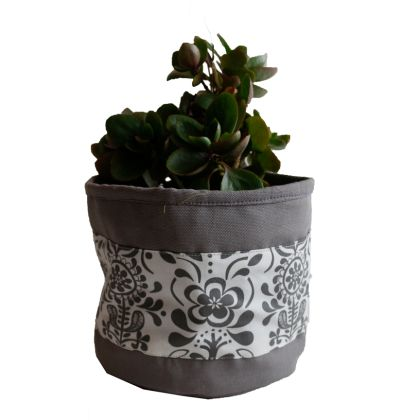 Grey Floral - Planter Bag
