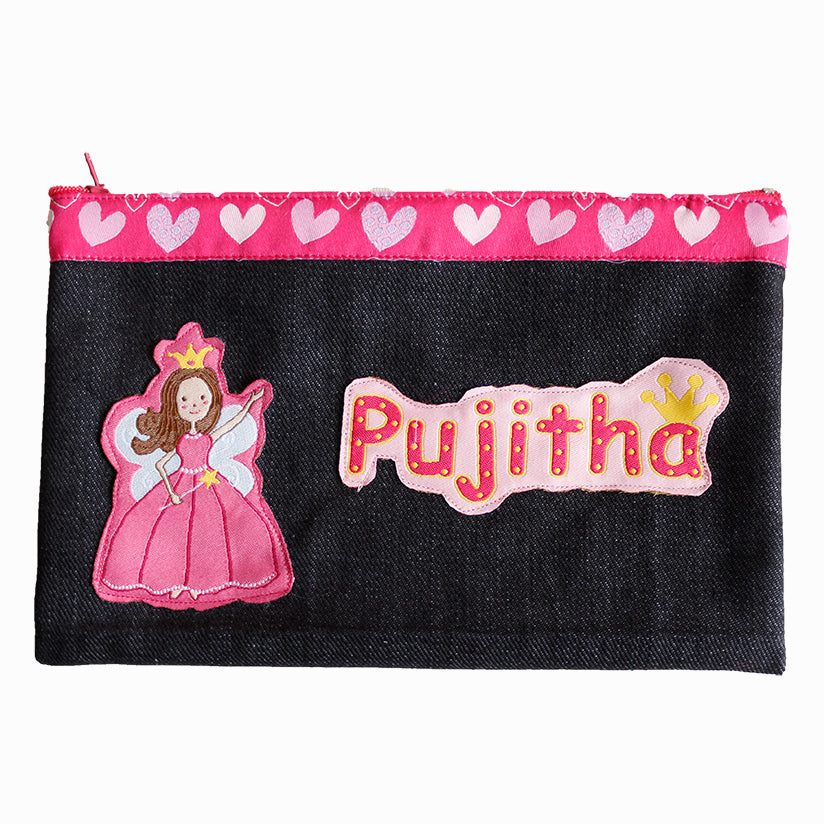 Princess Tiya - Denim pencil pouch