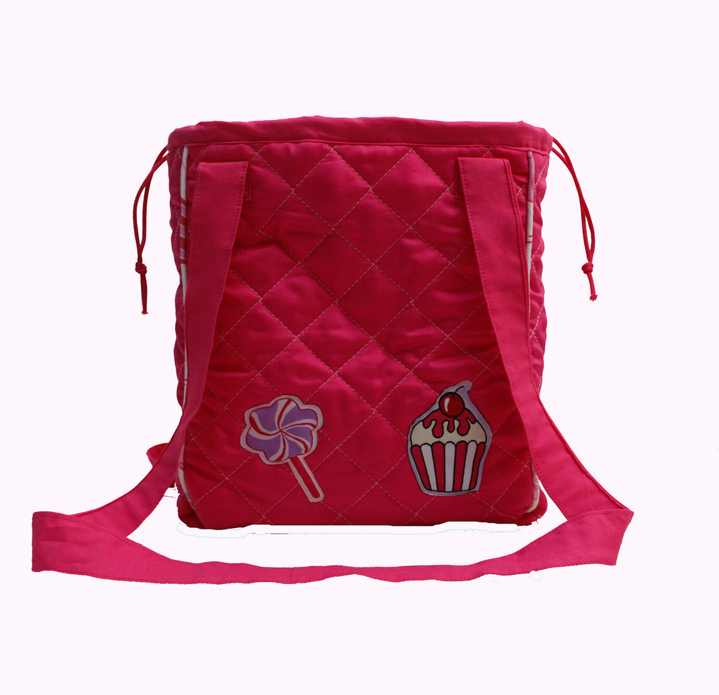 Cupcake and candy drawstring lunch bag