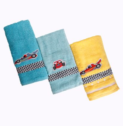 (Set of 3) Race car - Hand Towel