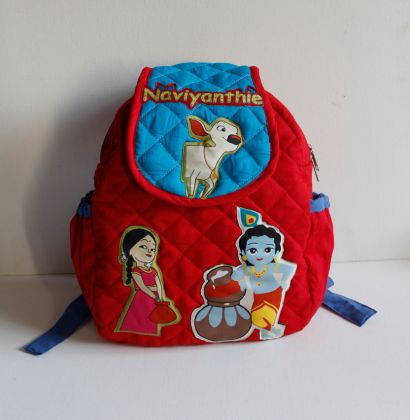 Krishna and Hamse -  Quilted School bag