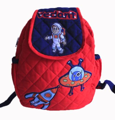 Space Theme -  Quilted School bag