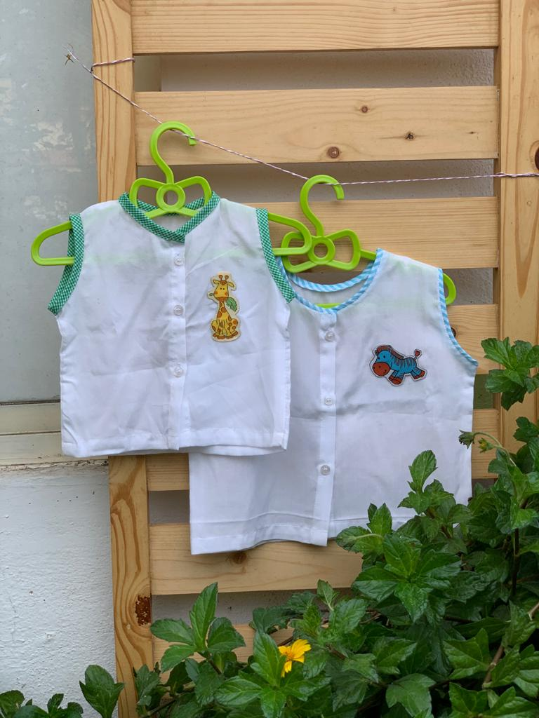 Baby Jablas set of 2 : Giraffe and Zebra