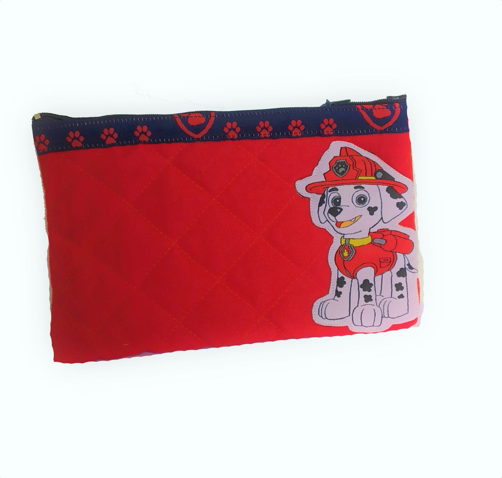Pawpetrol - quilted pencil pouch