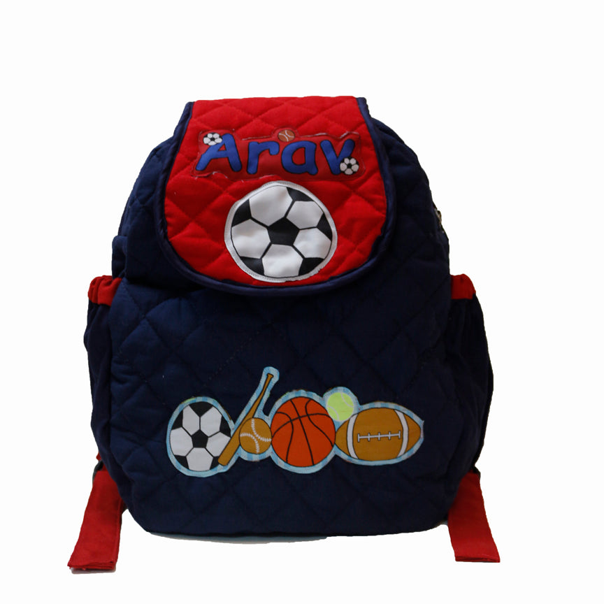 Little Sportsman- Quilted School bag