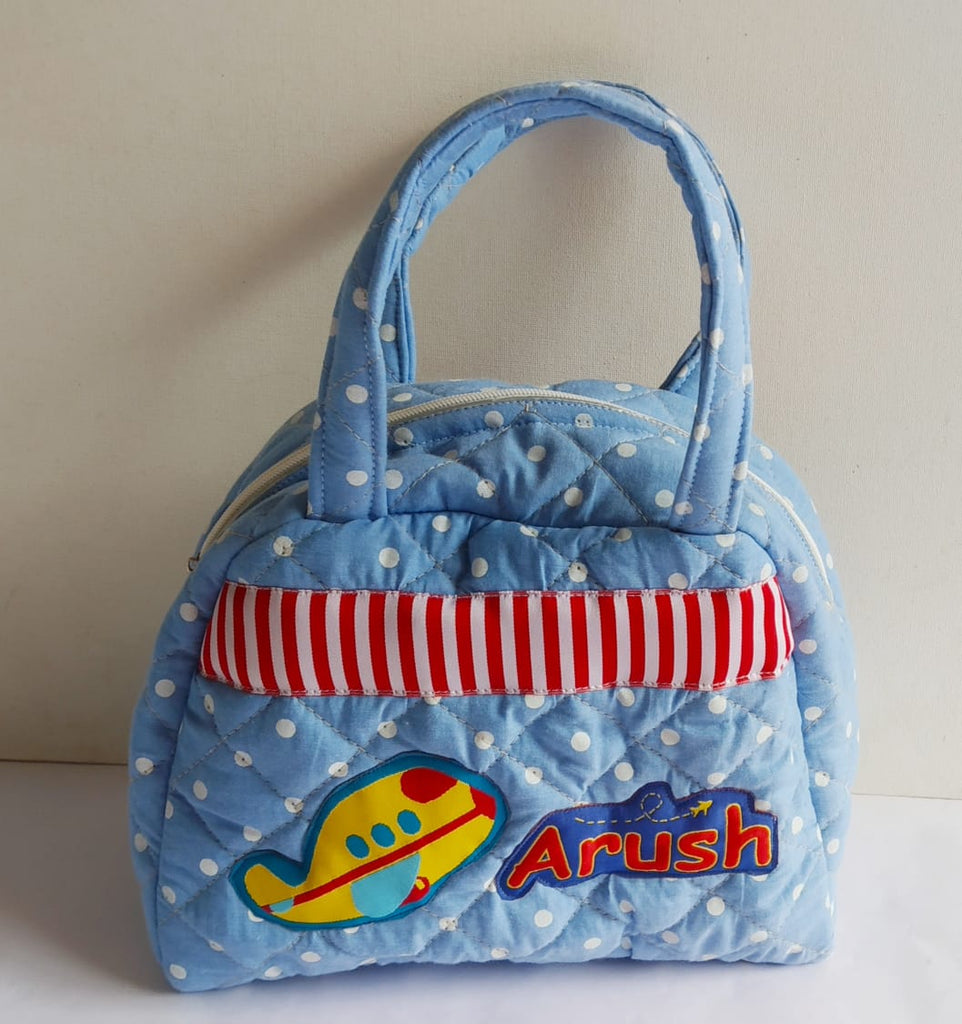 Blue Fly High -  lunch bag