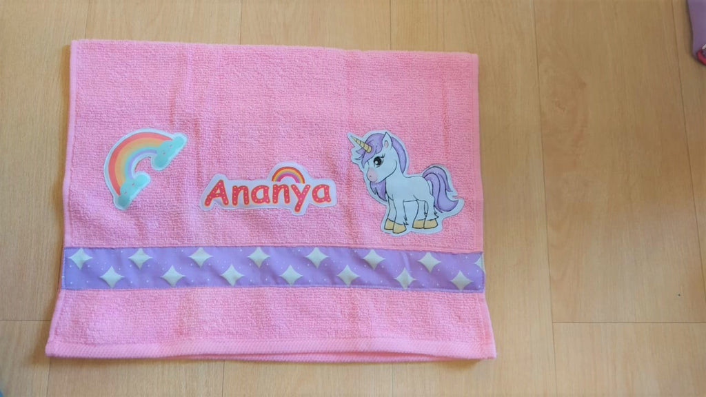 Pink unicorn  - Bath Towel