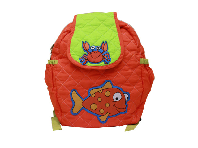 Crab quilted school bag