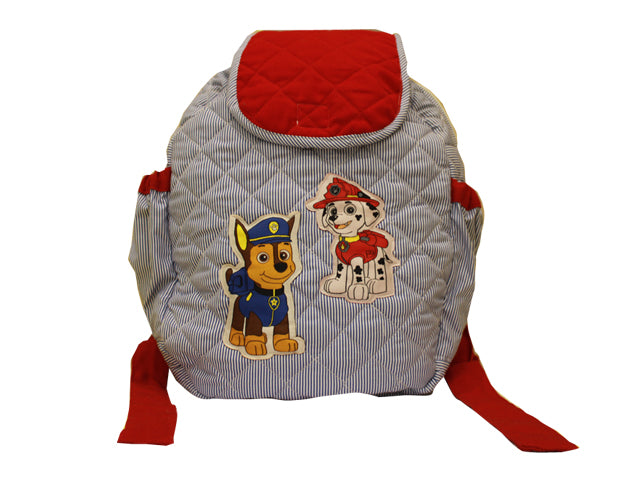 Dogs on duty quilted school bag